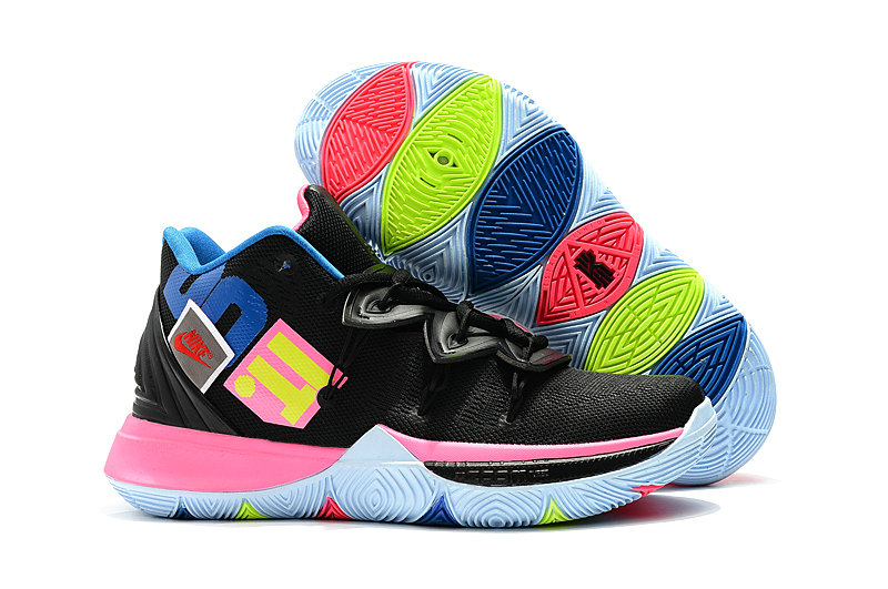 Wholesale Kyrie Irvings For Womens Nike Kyrie 5 Black Colorful-www.wholesaleflyknit.com