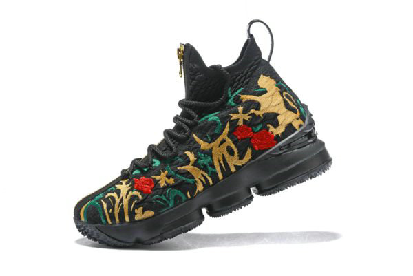 Cheap Wholesale Mens KITH x Nike LeBron 15 Kings Crown Long Live The King Black Multi-Color - www.wholesaleflyknit.com
