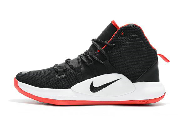 Cheap Wholesale Mens Nike Hyperdunk X Bred Black Varsity Red-White Basketball Shoes - www.wholesaleflyknit.com