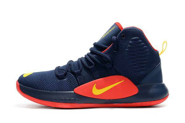 Cheap Wholesale Mens Nike Hyperdunk X Navy Blue Red-Yellow Basketball Shoes - www.wholesaleflyknit.com