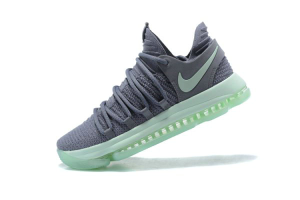 Cheap Wholesale Mens Nike KD 10 Igloo Cool Grey Igloo-White Basketball Shoes 897816-002 - www.wholesaleflyknit.com