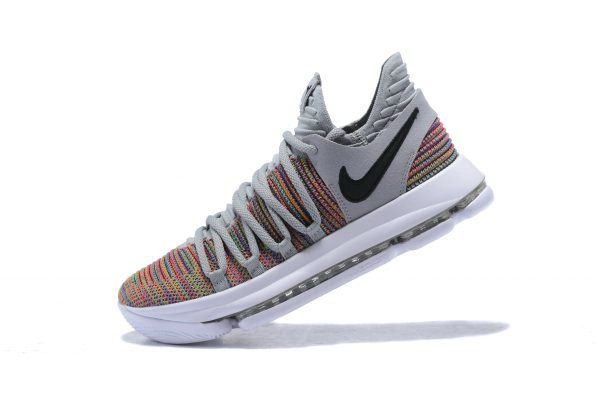 Cheap Wholesale Mens Nike KD 10 Multi-Color Black-Cool Grey-White 897815-900 - www.wholesaleflyknit.com