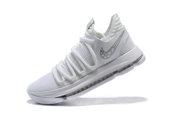 Cheap Wholesale Mens Nike KD 10 Platinum Tint Vast Grey-White Basketball Shoes 897816-009 - www.wholesaleflyknit.com