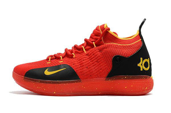 Cheap Wholesale Mens Nike KD 11 University Red Black-Yellow Basketball Shoes - www.wholesaleflyknit.com