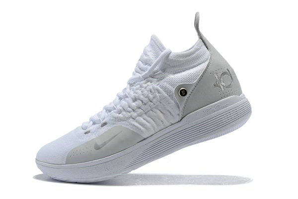 Cheap Wholesale Mens Nike KD 11 White Chrome-Pure Platinum Basketball Shoes - www.wholesaleflyknit.com