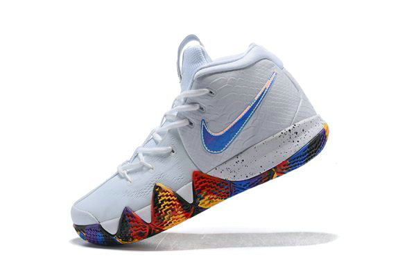 Cheap Wholesale Mens Nike Kyrie 4 NCAA March Madness White Multi-Color 943806-104 - www.wholesaleflyknit.com