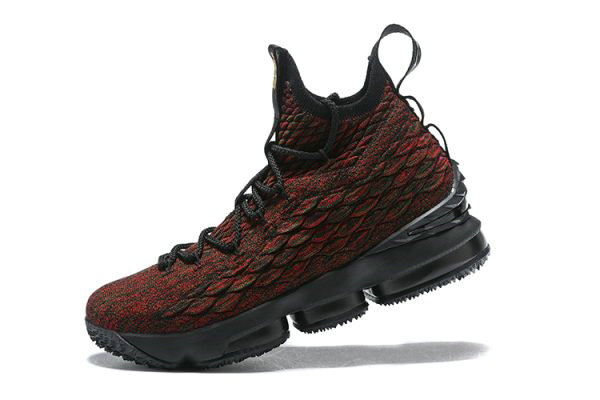 Cheap Wholesale Mens Nike LeBron 15 BHM Black Multi-Color Basketball Shoes AA3857-900 - www.wholesaleflyknit.com
