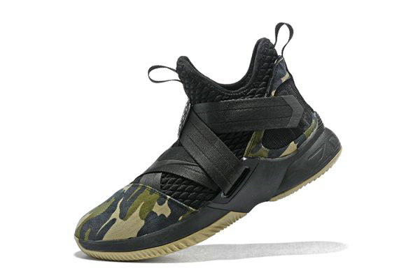 Cheap Wholesale Mens Nike LeBron Soldier 12 SFG Camo Black Black-Hazel Rush AO4054-001 - www.wholesaleflyknit.com