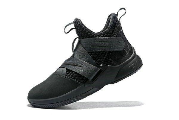 Cheap Wholesale Mens Nike LeBron Soldier 12 SFG Zero Dark Thirty Anthracite Black AO4054-002 - www.wholesaleflyknit.com