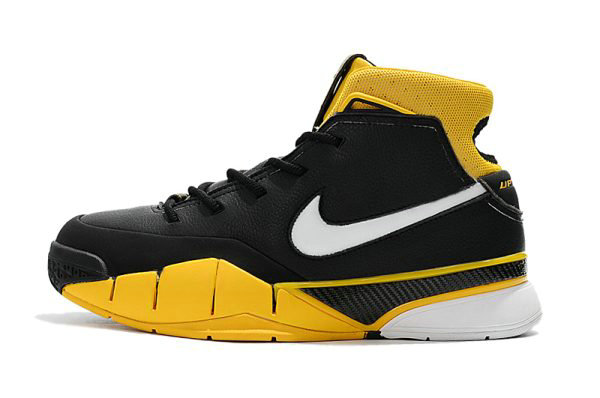 Cheap Wholesale Mens Nike Zoom Kobe 1 Protro Black White-Varsity Maize AQ2728-003 - www.wholesaleflyknit.com