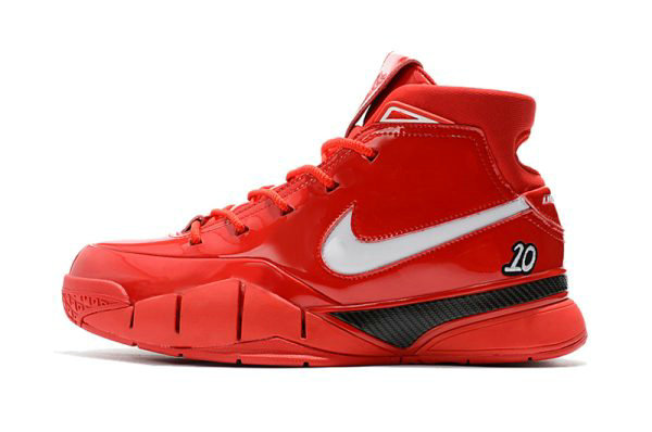 Cheap Wholesale Mens Nike Zoom Kobe 1 Protro Demar Derozan PE Red White-Black Shoes - www.wholesaleflyknit.com