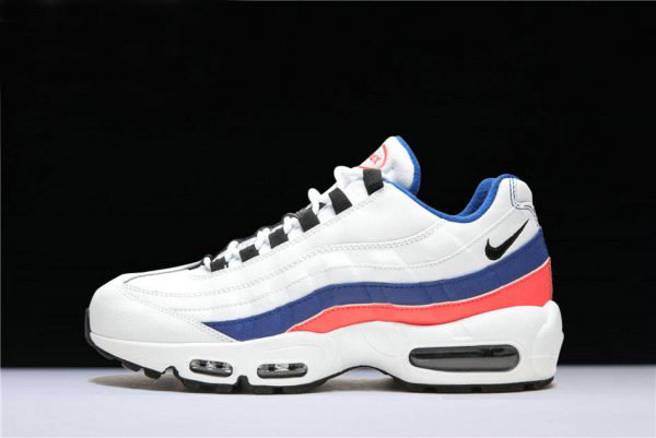 Cheap Wholesale Mens and WMNS Nike Air Max 95 White Black-Solar Red-Ultramarine 749766-106 - www.wholesaleflyknit.com