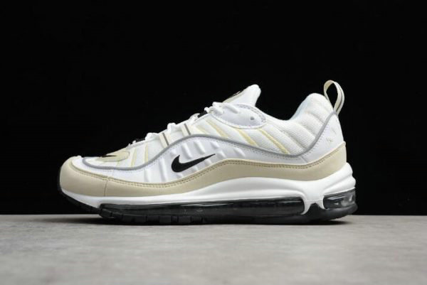 Cheap Wholesale Mens and WMNS Nike Air Max 98 Sail White Black-Fossil-Reflect Silver AH6799-102 - www.wholesaleflyknit.com