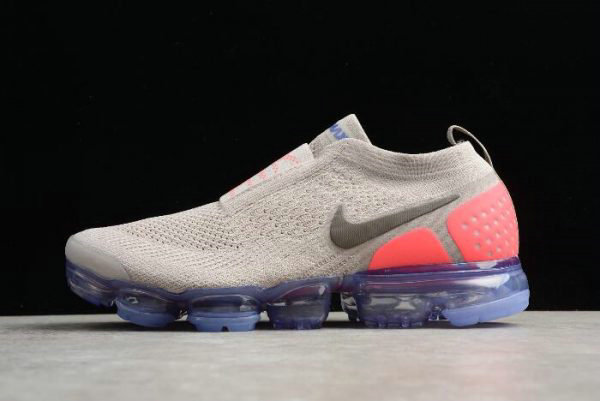 Cheap Wholesale Mens and WMNS Nike Air VaporMax Flyknit Moc 2 Moon Particle Solar Red-Indigo Burst AH7006-201 - www.wholesaleflyknit.com