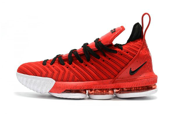 Cheap Wholesale Mens and Womens Nike LeBron 16 University Red Black-White For Sale - www.wholesaleflyknit.com