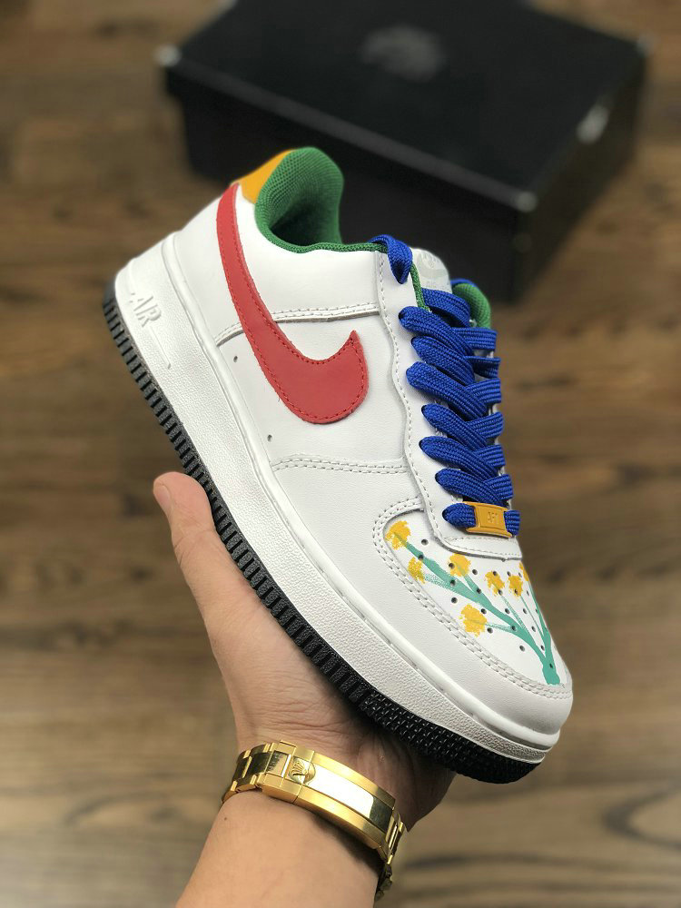 Wholesale Nike AIR FORCE 1 07 CXP1710-149PC Red White Yellow Blue- www.wholesaleflyknit.com