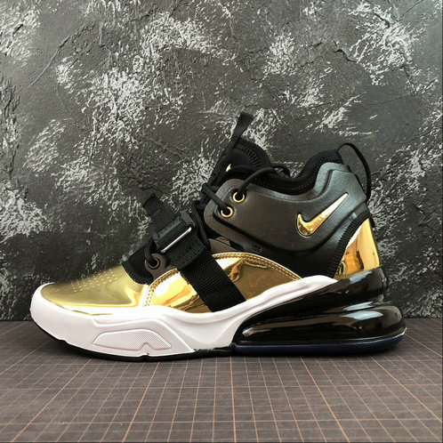 Cheap Wholesale NIKE AIR FORCE 270 CT16 QS AT5752-700 BLACK GOLD NOIR OR - www.wholesaleflyknit.com
