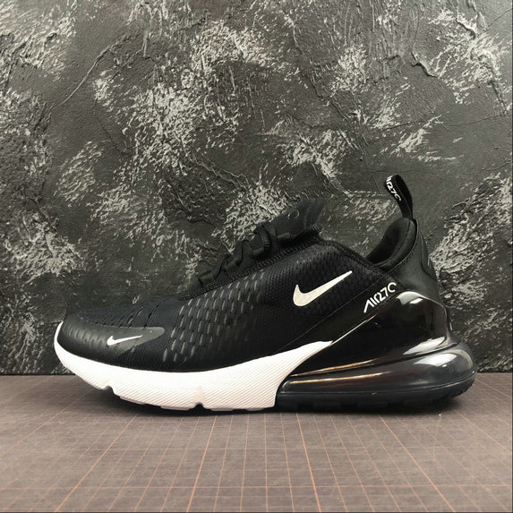 Wholesale NIKE AIR MAX 270 AH8050-002 Black Coal White Sun Red Charbon Noir Blanc LE Soleil Rouge-www.wholesaleflyknit.com