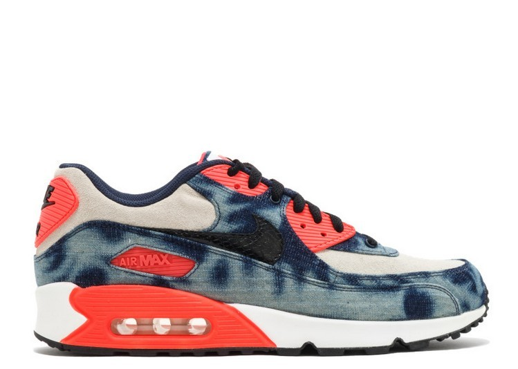 Cheap Wholesale NIKE AIR MAX 90 DENIM QS INFRARED WASHED DENIM 700875-400 MIDNIGHT NAVY BLACK WHITE INFRARED - www.wholesaleflyknit.com