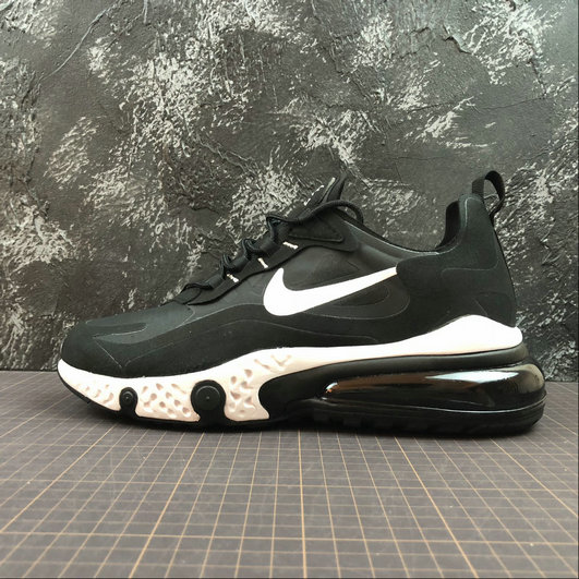 Cheap Wholesale NIKE REACT AIR MAX AQ9087-002 Black White Noir Blanc - www.wholesaleflyknit.com