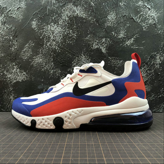 Cheap Wholesale NIKE REACT AIR MAX AQ9087-106 White Royal Blue Red Blanc Royal Bleu Rouge - www.wholesaleflyknit.com