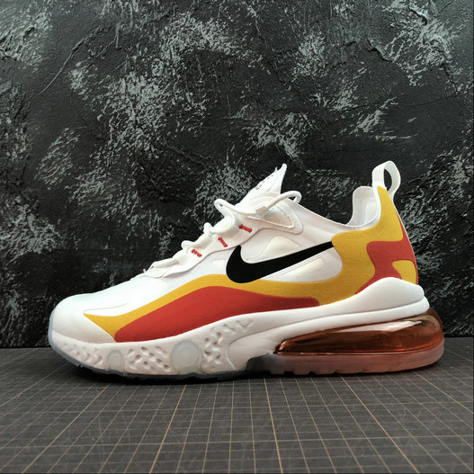 Cheap Wholesale NIKE REACT AIR MAX AQ9087-109 White Gold Red Blanc OR Rouge - www.wholesaleflyknit.com