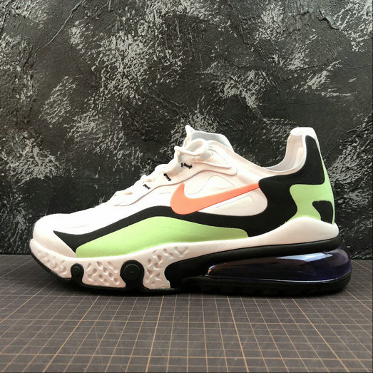 Cheap Wholesale NIKE REACT AIR MAX AQ9087-183 White Black L.Green Blanc Noir L.Vert - www.wholesaleflyknit.com