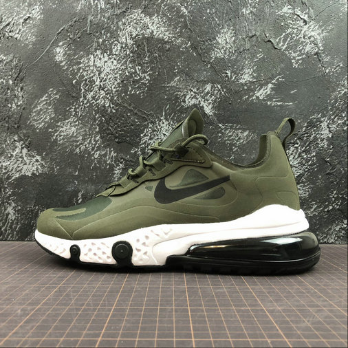 Cheap Wholesale NIKE REACT AIR MAX AQ9087-300 Army Green Black Army Vert Noir - www.wholesaleflyknit.com