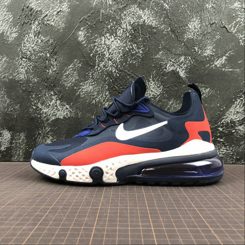 Cheap Wholesale NIKE REACT AIR MAX AQ9087-416 Navy Red Navy Rouge - www.wholesaleflyknit.com