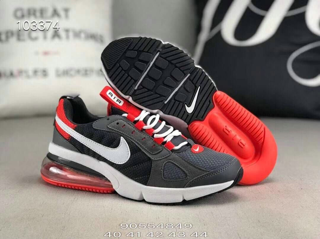 Wholesale Nike 270 V2 Future Zoom Sports Black White Grey Red-www.wholesaleflyknit.com