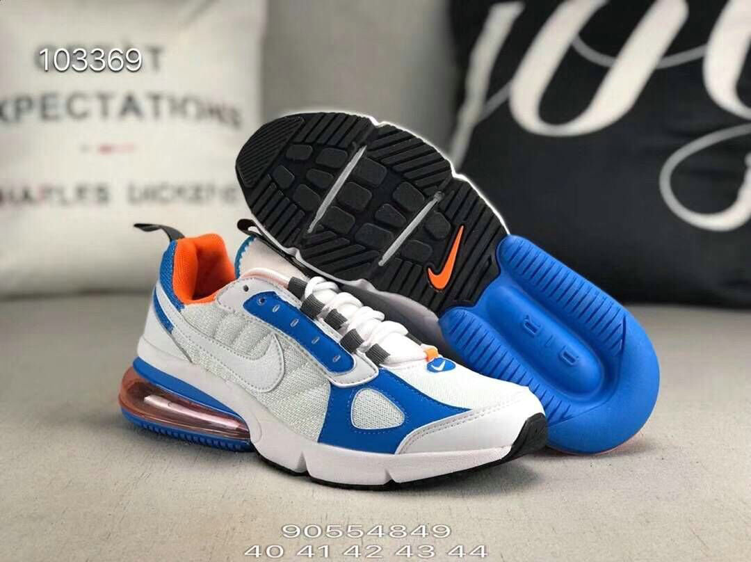 Wholesale Nike 270 V2 Future Zoom Sports Blue Orange White Black-www.wholesaleflyknit.com