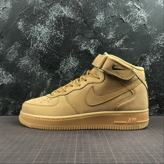Wholesale Nike AIR FORCE 1 MID 07 715889-200 Womens Flax Outdoor Green Lin-www.wholesaleflyknit.com