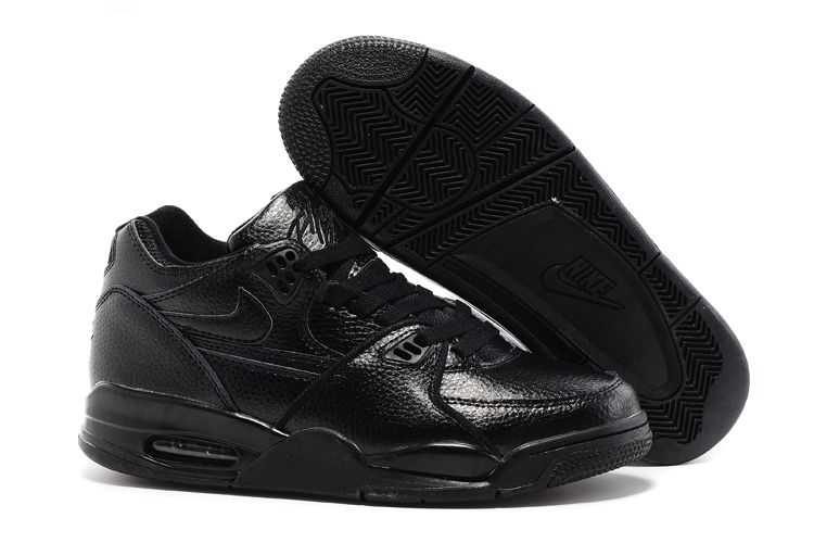 Wholesale Cheap Nike Air Flight 89 All Black Leather Basketball Shoes For Sale - www.wholesaleflyknit.com