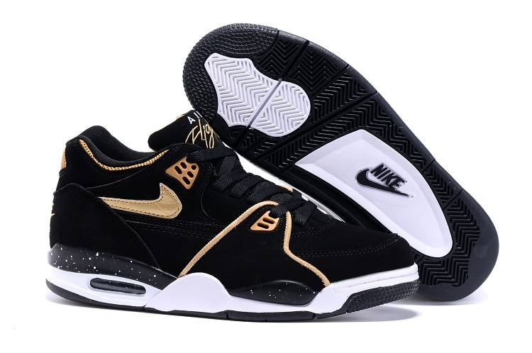 Wholesale Cheap Nike Air Flight 89 Black Metallic Bronze-White Shoes For Sale - www.wholesaleflyknit.com