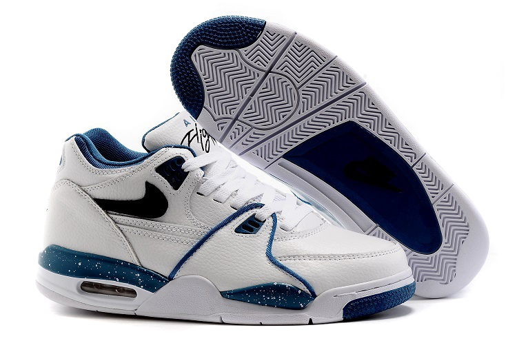 Wholesale Cheap Nike Air Flight 89 Obsidian Blue White Dark Obsidian-Brigade Blue Shoes - www.wholesaleflyknit.com