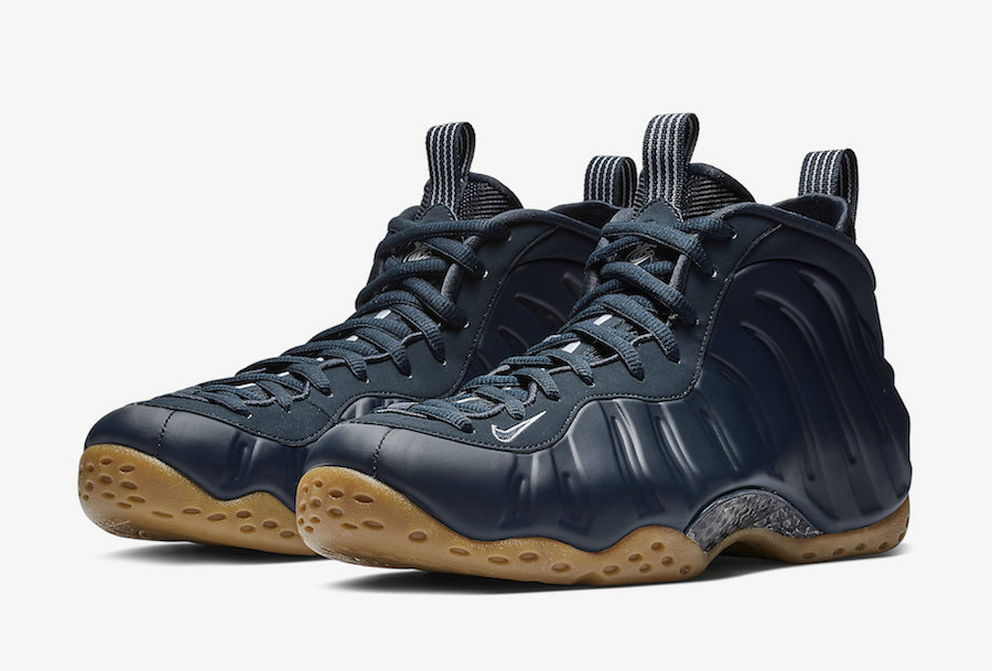 Wholesale Nike Air Foamposite One Midnight Navy Gum Light Brown-White-Midnight Navy 314996-405-www.wholesaleflyknit.com