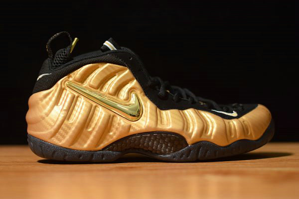 Cheap Wholesale Nike Air Foamposite Pro Metallic Gold Metallic Gold Black-White 624041-701 - www.wholesaleflyknit.com
