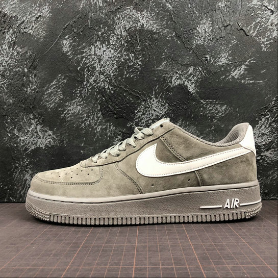 Wholesale Nike Air Force 1 07 Mens AA1118-006 Grey Pig Eight Gris Cochon-www.wholesaleflyknit.com