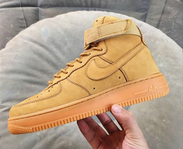 Cheap Wholesale Nike Air Force 1 High Wheat Flax Flax-Outdoor Green For Sale - www.wholesaleflyknit.com