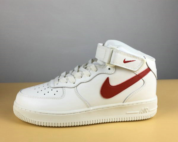 Cheap Wholesale Nike Air Force 1 Mid 07 Sail University Red For Sale - www.wholesaleflyknit.com