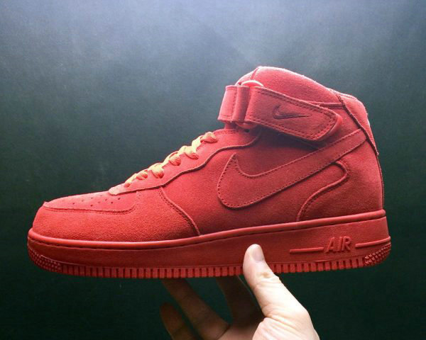 Cheap Wholesale Nike Air Force 1 Mid Gym Red-Gym Red-White For Sale - www.wholesaleflyknit.com