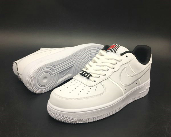 Cheap Wholesale Nike Air Force 1 Valentines Day White Black For Sale - www.wholesaleflyknit.com