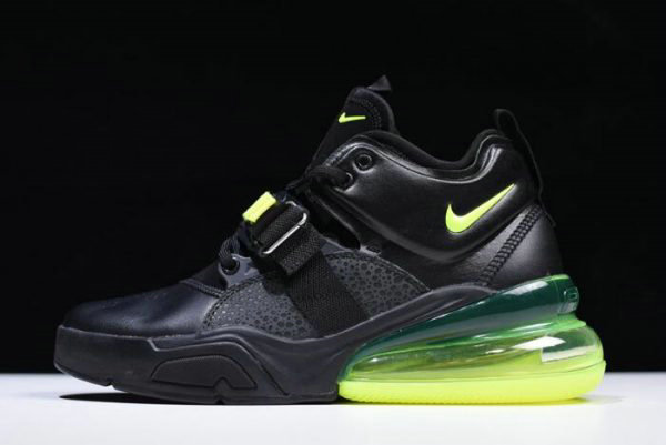 Cheap Wholesale Nike Air Force 270 Black Fluorescent Green Free Shipping - www.wholesaleflyknit.com