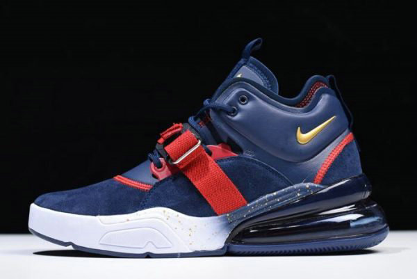 Cheap Wholesale Nike Air Force 270 Dream Team Obsidian Metallic Gold-Gym Red-White AH6772-400 - www.wholesaleflyknit.com