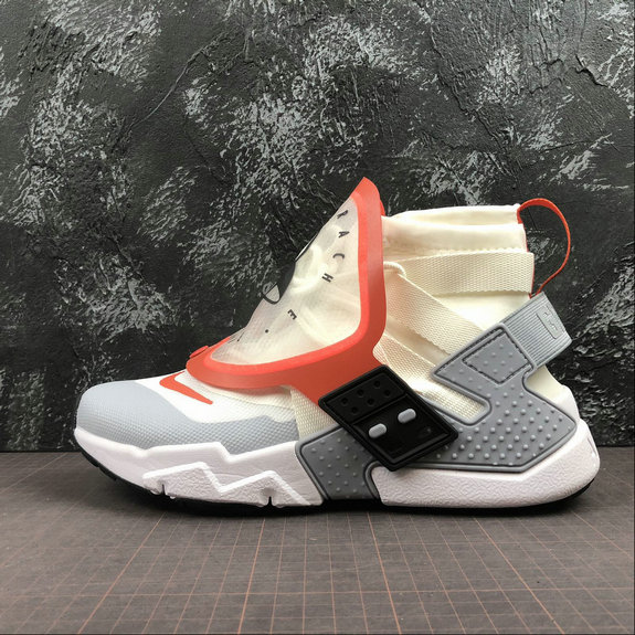 Wholesale Nike Air Huarache Gripp QS AT0298-100 Sail Team Orange White Voile Blanc Equipe Orange-www.wholesaleflyknit.com