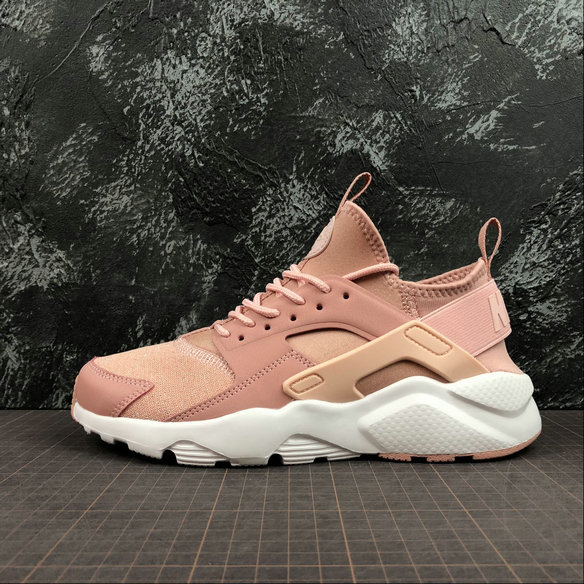 Wholesale Nike Air Huarache RUN ULTRA Womens 942122-600 Rust Pink Strom Pink White Rose Rouille Blanc Rose Orage-www.wholesaleflyknit.com