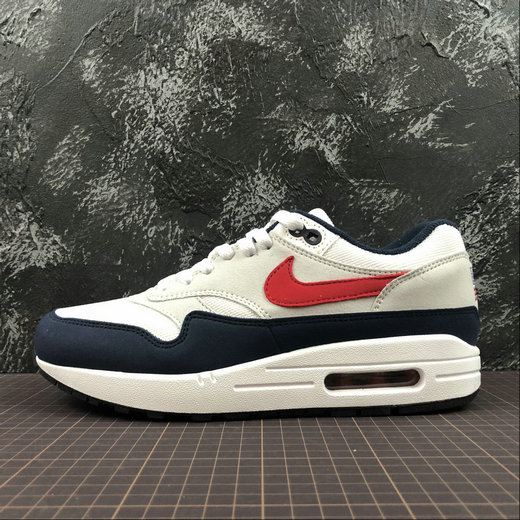 Wholesale Nike Air Max 1 875844-006 WHT VRSTY RED MN NAVY LTZENGY BLA RPRO NAVY GRICLA- www.wholesaleflyknit.com
