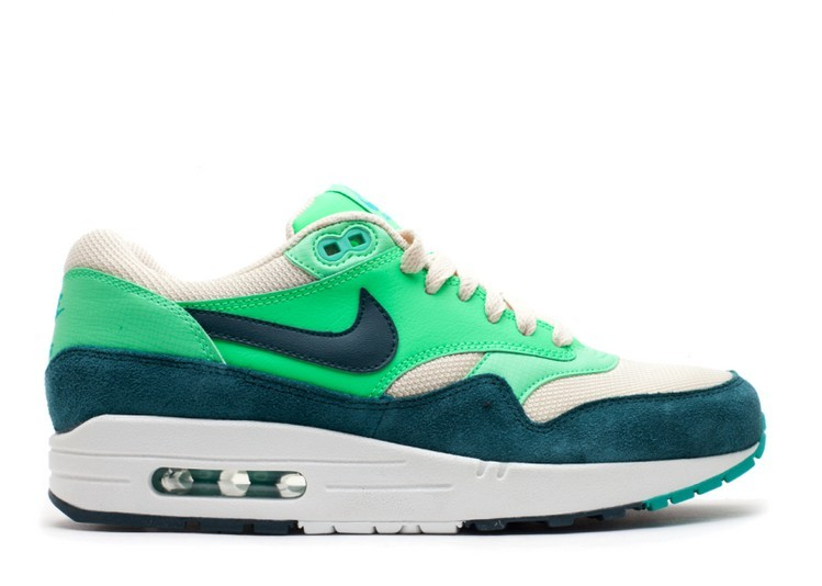 Cheap Wholesale Nike Air Max 1 Essential Mens Trainers Atomic Green 537383-230 Birch Dark Atomic Teal - Poison Green - Atomic Teal - www.wholesaleflyknit.com