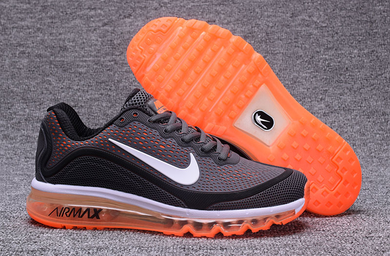 Wholesale Cheap Nike Air Max 2017 Orange Grey Black 898013-120 Air Max - www.wholesaleflyknit.com