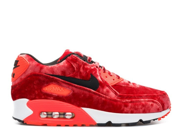 Cheap Wholesale Nike Air Max 90 25th Anniversary Red Velvet 725235-600 Gym Red Black-Infrared-Metallic Gold - www.wholesaleflyknit.com